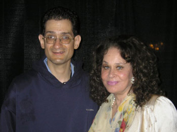 The author and Karen Black