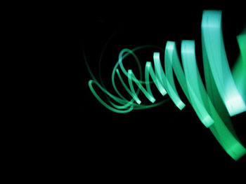 Light art using a cellphone display