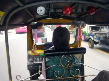Be adventurous take a spin in a tuk tuk - Bangkok.