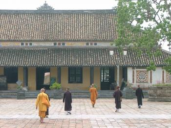Buddhist monks at the Citadel, Hue