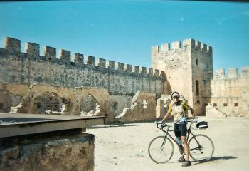 cycling into a very old place