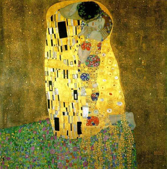 Klimt liked closeness-similarly nestled couples appear in two of his other paintings