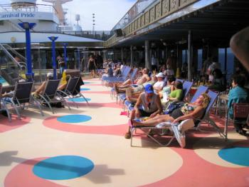 Relaxing on the Lido deck