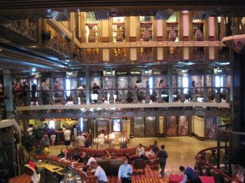 Renaissance lobby of the Carnival Pride ship