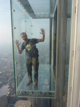 A glass box on the 110th floor had more legroom!