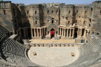 amphitheater-cum-fortress, Bosra Syria