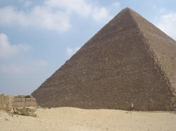 Big Pyramid...little camel...get on if you dare!