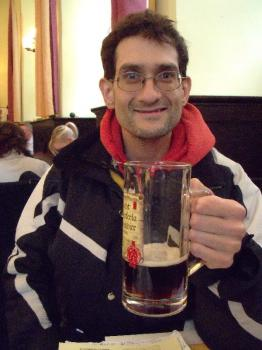 The author with some rauchbier