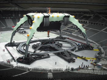 The U2 'Claw' stage in Berlin (all this is carried by trucks)