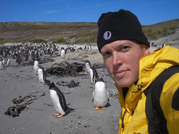Rolf in the Falklands