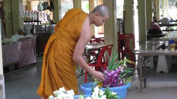 A monk at a temple.