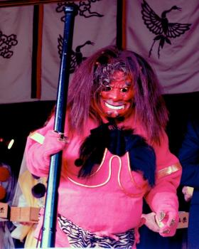 Setsubun Devils are distinguishable by their horns and fetching tiger pants