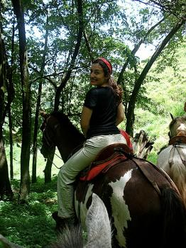 Katrina and her horse Machito...who was with pony