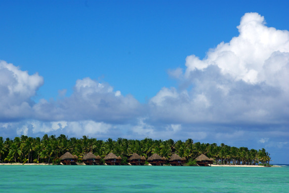 The Aitutaki Resort from the Lagoon