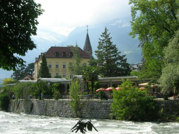 Merano, from the Passer river