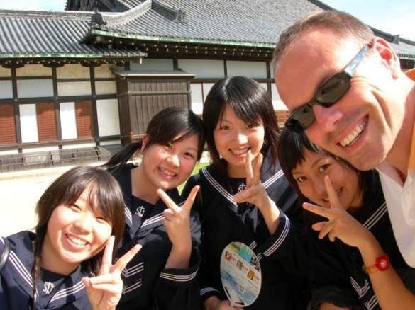 Johnny and friends in Kyoto
