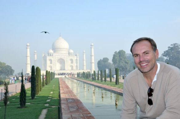 Johnny at the Taj Mahal