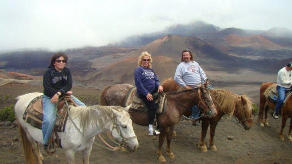 Horseback down into the Haleakala Crater in Hawaii
