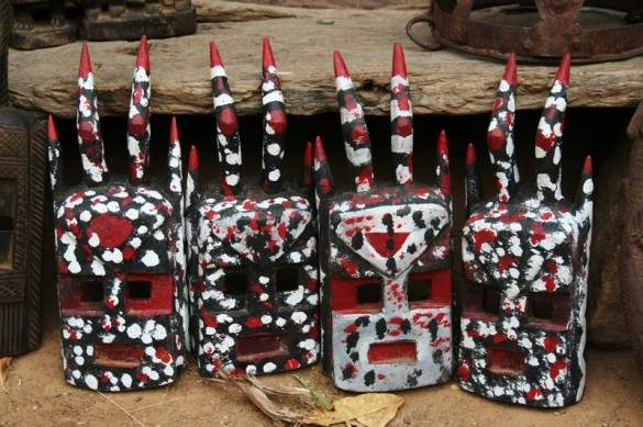 Dogon masks, Mali