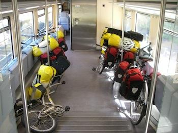 Bikes on the train in Germany