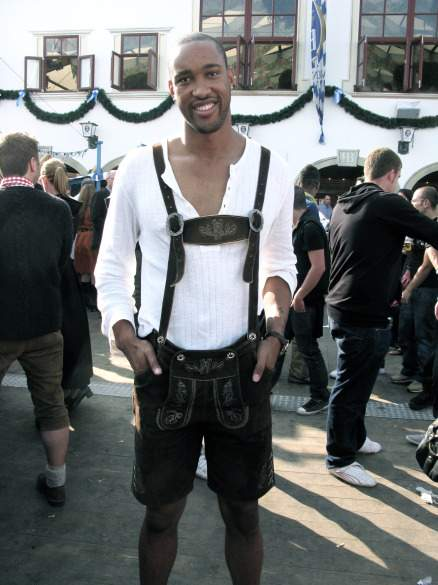 Coleman, unafraid to follow the customs at Oktoberfest