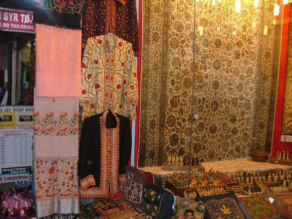 Kashmiri shirts and carpets