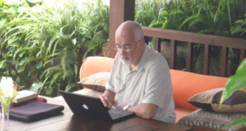 Graham Phoenix Working in Bali