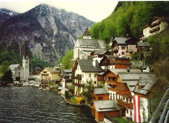 Hallstatt, where salt has been mined for over 2000 years