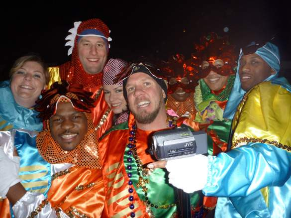 With the Mardi Gras Krewe