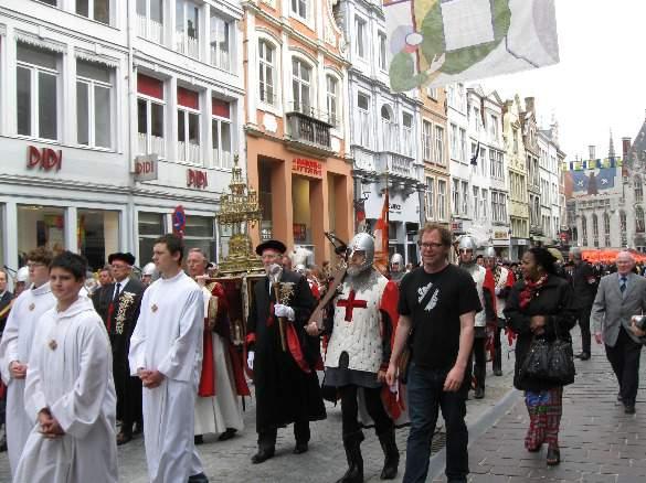 Walking alongside the Holy Blood in Bruges, Belgium