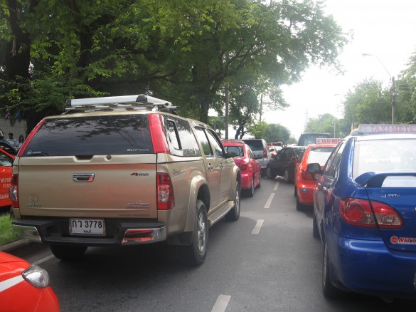 The Bangkok traffic - bring a good book to cope with it.
