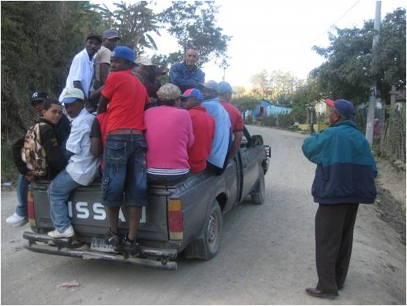 Local transport down the mountain