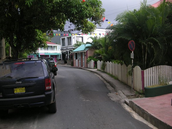 Shopping on Main St - Roadtown, Tortola 