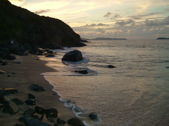 Sunset on Virgin Gorda Island