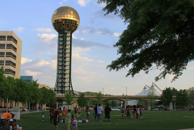 The legacy of the 1982 World's Fair in Knoxville, Tennessee is the Sunsphere ...