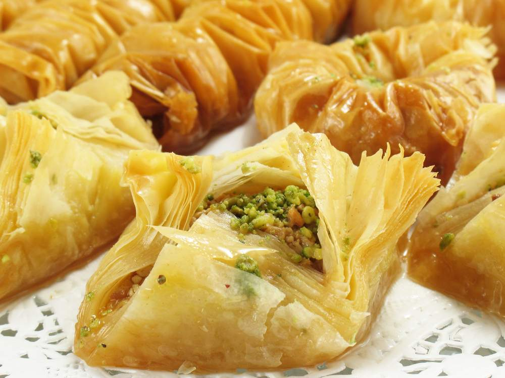 turkish food baklava