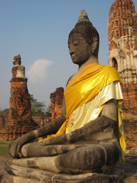 Seated Buddha, Buddhism has deeply influenced Thai culture.