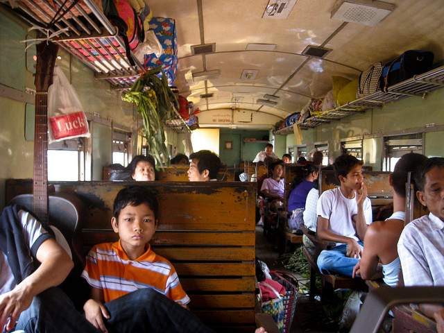Train carriage, Myanmar