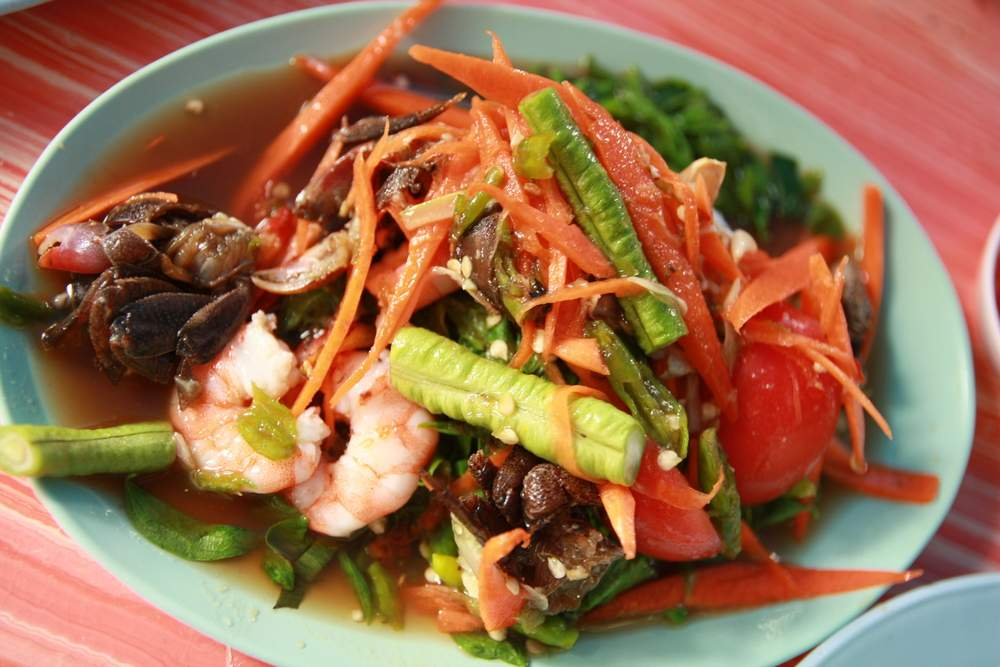 Papaya Salad in Laos