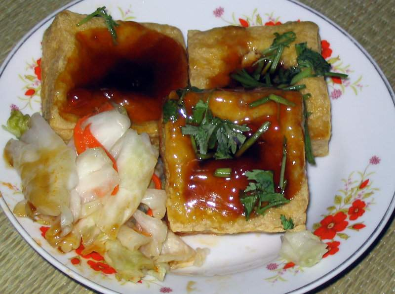 Stinky fried tofu
