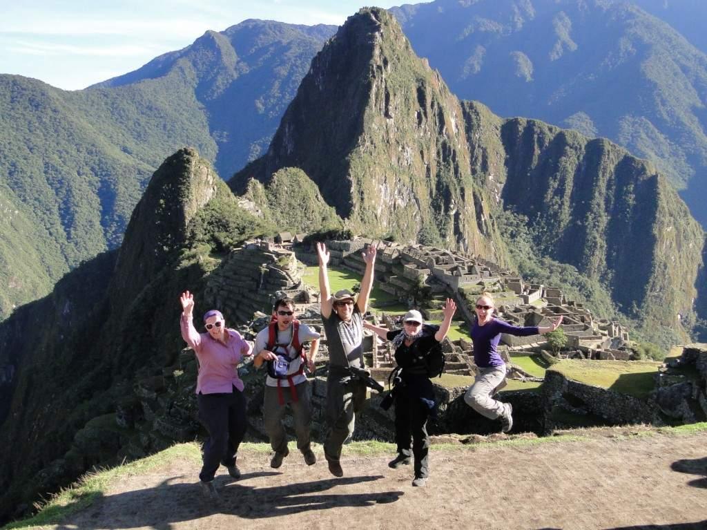 Machu Picchu Group Jump