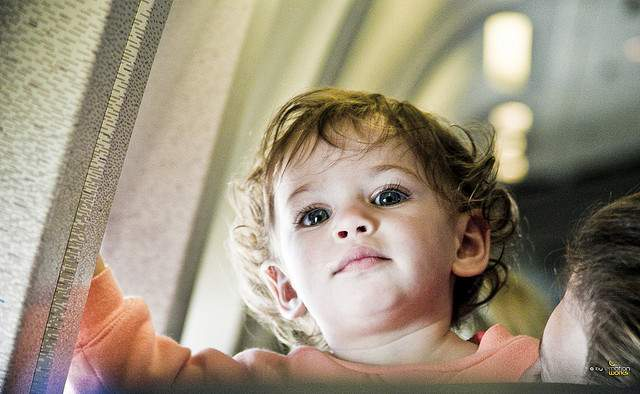 kid on a plane