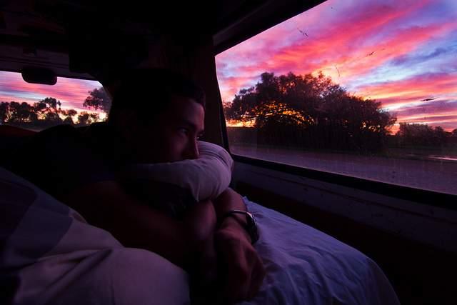 J55 / DŽtail du quotidien : Les levers du soleil dans le van