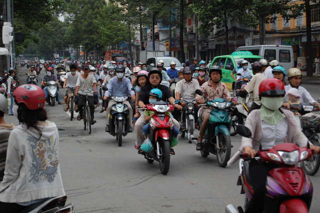 Traffic in Saigon, Vietnam