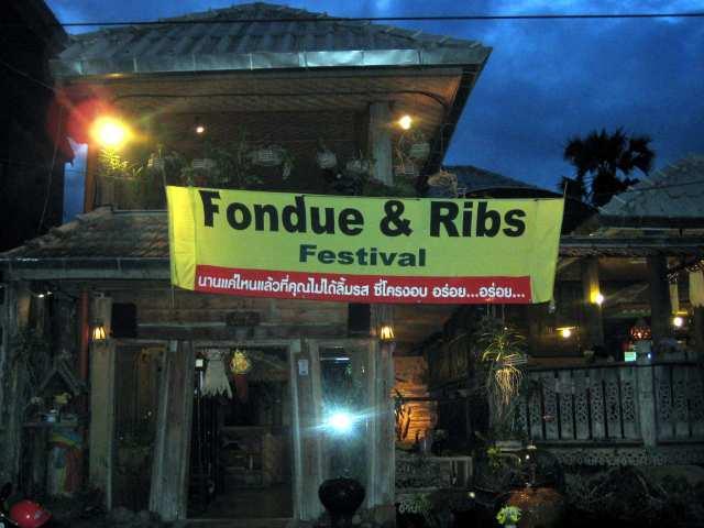 Fondue and Ribs