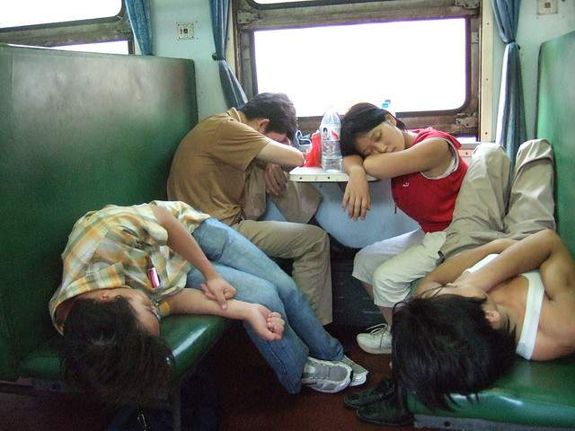 Chinese train, hard-seat class