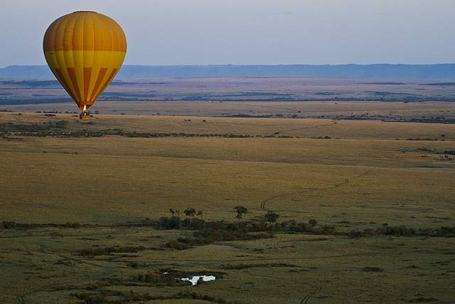 dani blanchette, hot air balloon, kenya, africa, safari
