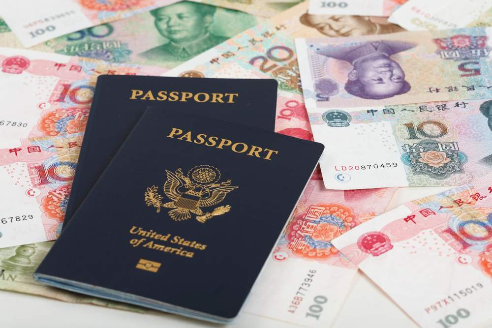 passports and money
