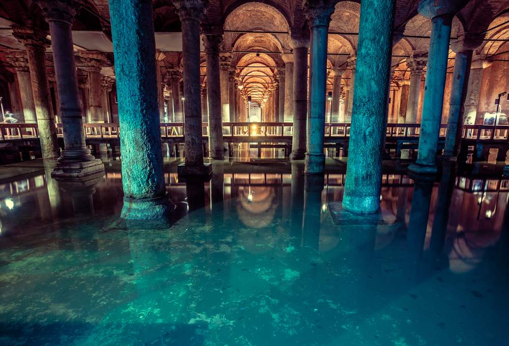 The Underground Mosque, Istanbul, Turkey
