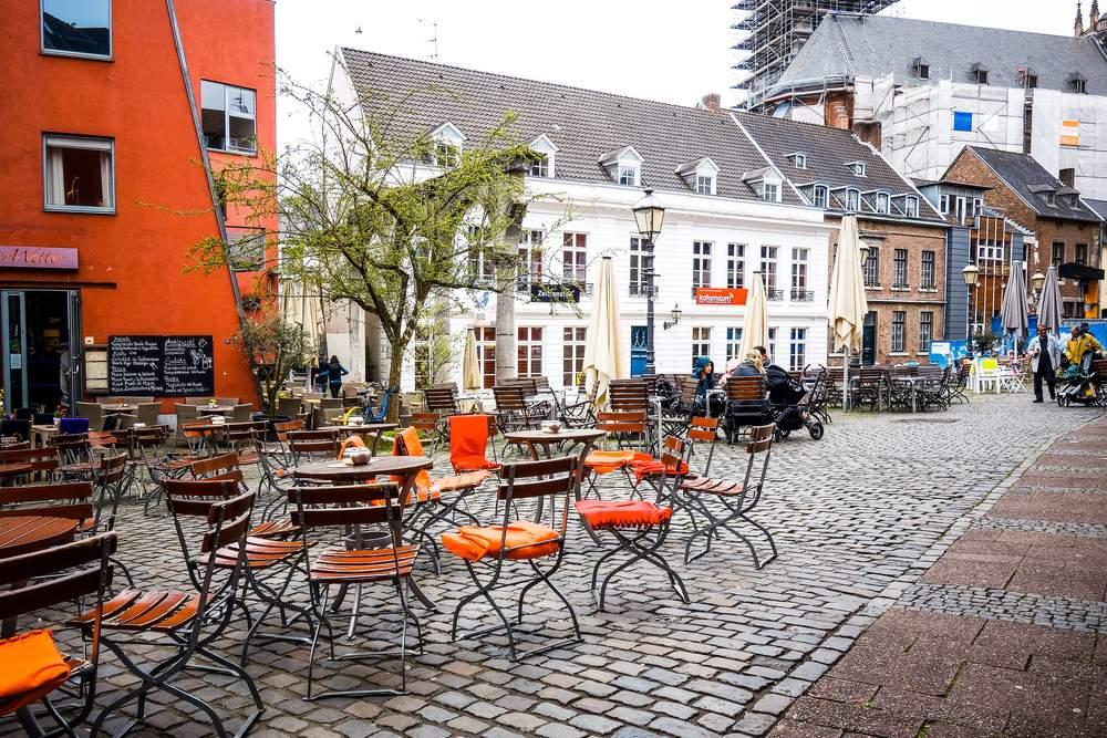 Cobblestone streets Aachen, Germany